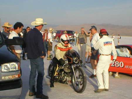Amercian Cycle Fab Bonneville Racers Use StrongArm Fluids...